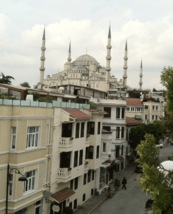 Blue Mosque from Hotel Azade