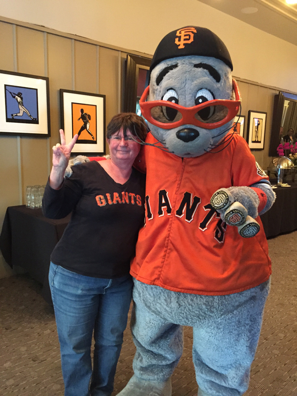 with my buddy Lou Seal