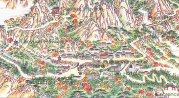 Travel Map Of Huangshan Very Non Gps